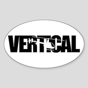Vertical Black R22 Oval Sticker