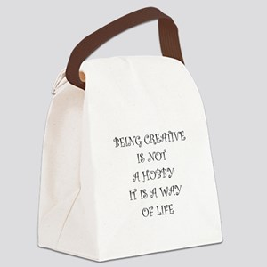 Being Creative Canvas Lunch Bag