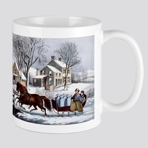 Winter morning in the country - 1873 11 oz Ceramic