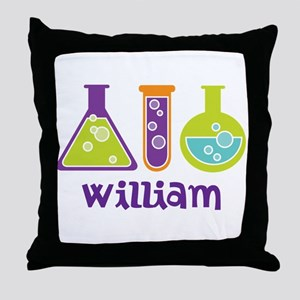 Personalized Scientist Throw Pillow