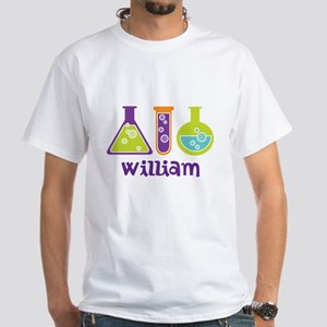 Personalized Scientist White T-Shirt
