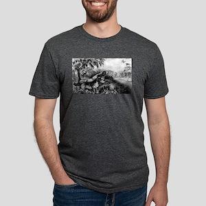 Woodcock shooting - 1870 Mens Tri-blend T-Shirt