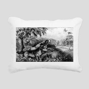 Woodcock shooting - 1870 Rectangular Canvas Pillow