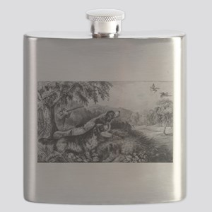 Woodcock shooting - 1870 Flask