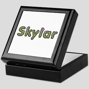Skylar Spring Green Keepsake Box