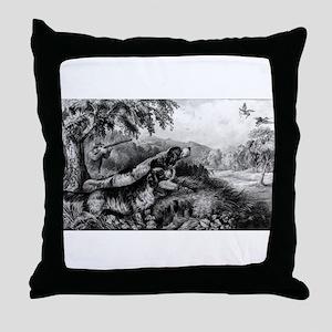 Woodcock shooting - 1870 Throw Pillow