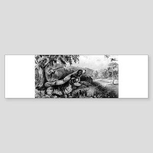 Woodcock shooting - 1870 Sticker (Bumper)