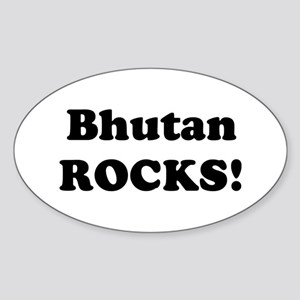 Bhutan Rocks! Oval Sticker