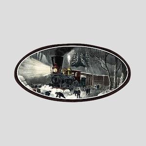 American railroad scene - snowbound - 1871 Patch