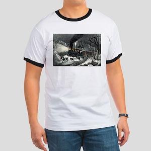 American railroad scene - snowbound - 1871 Ringer