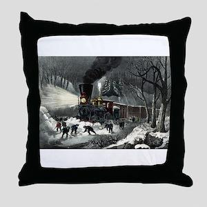 American railroad scene - snowbound - 1871 Throw P