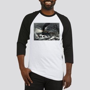 American railroad scene - snowbound - 1871 Basebal
