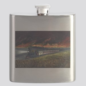 Prairie fires of the great west - 1872 Flask