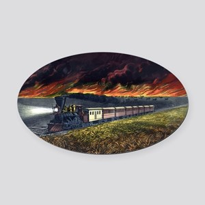 Prairie fires of the great west - 1872 Oval Car Ma