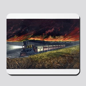 Prairie fires of the great west - 1872 Mousepad