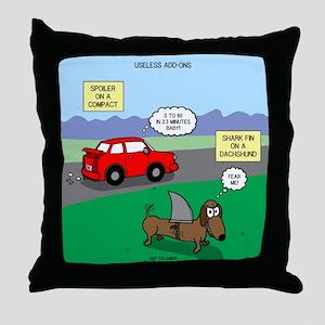 Useless Add-Ons Throw Pillow
