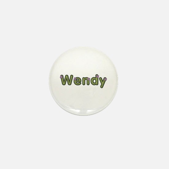 Wendy Spring Green Mini Button