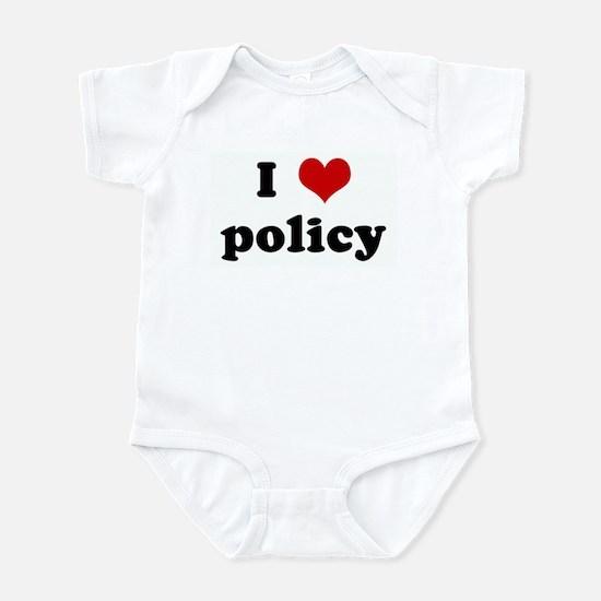 I Love policy Infant Bodysuit