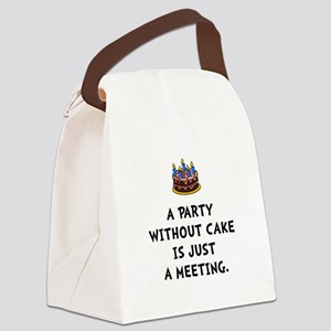 Cake Meeting Canvas Lunch Bag