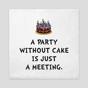 Cake Meeting Queen Duvet