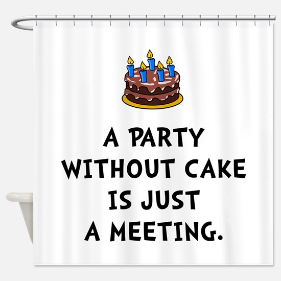 Cake Meeting Shower Curtain