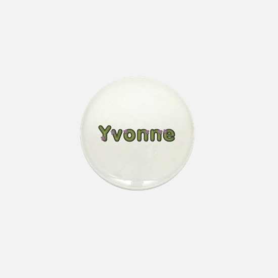 Yvonne Spring Green Mini Button
