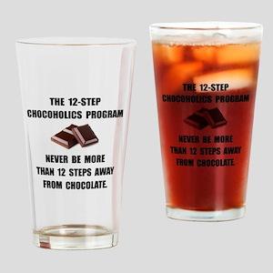 Chocoholics Program Drinking Glass