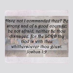 Joshua 1-9 Throw Blanket