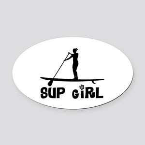 SUP_Girl-b Oval Car Magnet