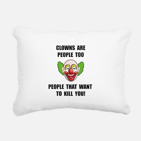 Clown Kill Rectangular Canvas Pillow