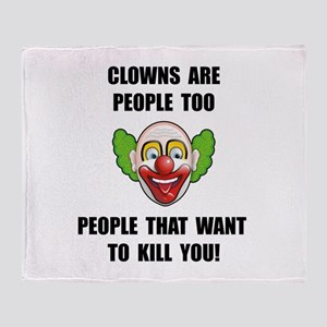Clown Kill Throw Blanket