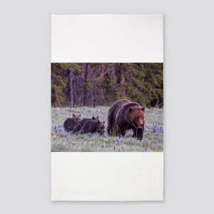 Grizzly Bear 399 3'x5' Area Rug