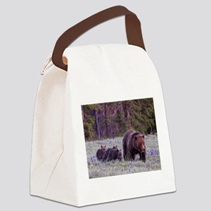 Grizzly Bear 399 Canvas Lunch Bag