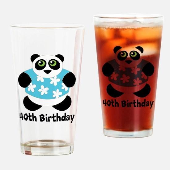 Personalized Panda Birthday Drinking Glass