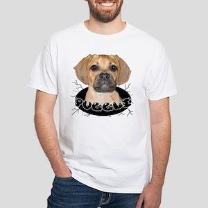 PUGGLE White T-Shirt