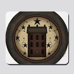 Primitive Saltbox and Stars Mousepad