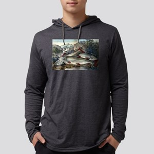 Brook trout--just caught - 1907 Mens Hooded Shirt