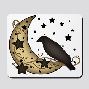 Crow on the Moon Mousepad