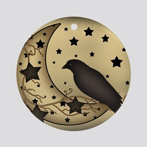 Starlight crow Round Ornament