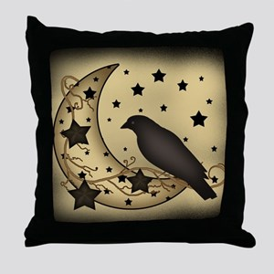 Starlight crow Throw Pillow
