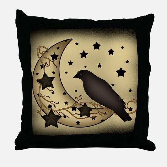 Starlight crow Throw Pillow