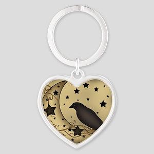 Starlight crow Heart Keychain
