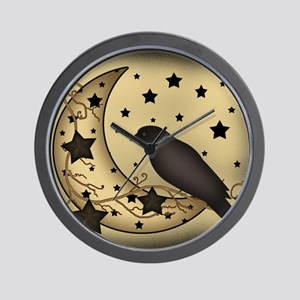 Starlight crow Wall Clock