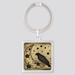 Starlight crow Square Keychain