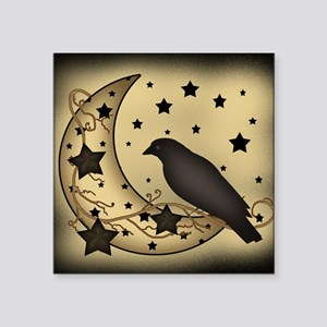 "Starlight crow Square Sticker 3"" x 3"""
