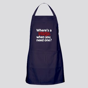 WHERES A NINJA WHEN YOU NEED ONE 2 Apron (dark)