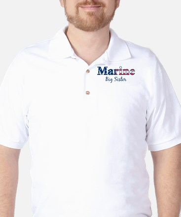 Marine Big Sister (Patriotic) Golf Shirt