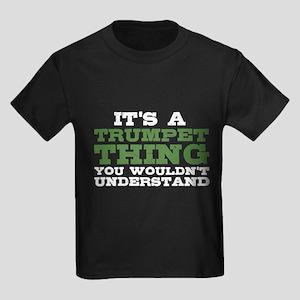 It's a Trumpet Thing Kids Dark T-Shirt