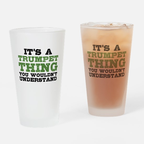It's a Trumpet Thing Drinking Glass