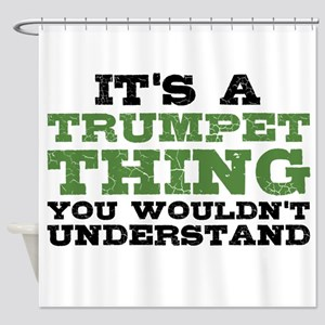It's a Trumpet Thing Shower Curtain